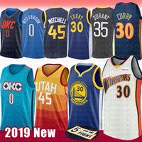 9851fd95186 NCAA Donovan 45 Mitchell Rudy 27 Gobert Jersey Stephen 30 Curry Russell 0  Westbrook Kevin 35 Durant UCLA University Basketball Jerseys