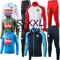 Wholesale men soccer training jacket resale online - Super good quality Napoli Soccer Sets Hamsik Insigne Tracksuits Napoli training wear Can be sold separately Jacket pants S XXL
