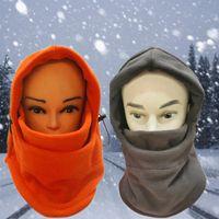 schädel gesicht großhandel-2017 Hohe Qualität Unisex Damen Wintermütze Fleece-Gesichtsmaske Winterthermalaußen Ski Moto Bike Hood Skullies