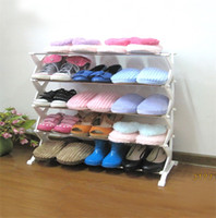 Wholesale store clothes hangers online - Stainless Steel Stent Shoe Rack Removable Slipper White Hanger Concise Sneakers Shelves Store Shelves Pure Colour Stable Hot Sale hfb1