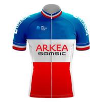 team himmel schwarz trikot großhandel-2019 ARKEA SAMSIC PRO TEAM Frankreich NUR Champion Kurzarm Radtrikot Fahrradbekleidung Größe XS-4XL