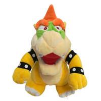mario bowser puppe großhandel-25 cm Super Mario Knochen Kubah Drache Koopa Bowser Plüschtier Kinder Cartoon Weichem Plüsch Gefüllte Puppen Gelb Bowser