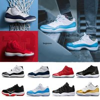 Wholesale black legend blue 11s for sale - Group buy 11 XI high low Men Women Basketball Shoes Concord Bred Space Jam Legend Blue Bred Gym Red white s j11 Sneakers
