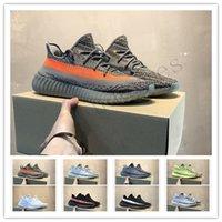 sapatilhas de zebra venda por atacado-Kanye West 35 V2 Static Running Shoes Zebra Beluga 2.0 Manteiga De Gergelim Produzido Preto Cobre Laranja Listras Atletismo Sneakers c1