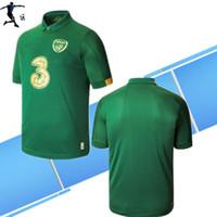 Wholesale ireland football jersey resale online - 19 Ireland FC European Cup Soccer Jersey home away National team Ireland man and kids kit football shirt