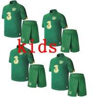 melhor qualidade tailândia futebol jersey venda por atacado-crianças mais novas 2019 2020 COLLINS McGoldrick Equipe de Futebol da Irlanda Nacional Tailândia melhor qualidade Home Green camisas do futebol Uniforme