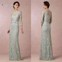 3faa2eb8fd10d Wholesale mother special occasion dresses online - 2019 Sheath Prom Dress  Bateau Long Sleeves With Zipper