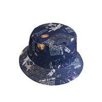 Wholesale uv materials for sale - Group buy Cotton material double sided fisherman hat fashion starry pattern basin cap summer ladies bucket cap sunshade UV protection