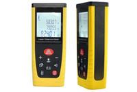 nível digital venda por atacado-Laserworks 100M portátil Laser Digital telémetro Rangefinde alta precisionr Medidor de distância do nível de bolha Tester Instrumento Régua CP100