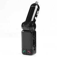 hd tuner android toptan satış-Bluetooth V2.0 Araç Kiti MP3 Çalar FM Verici Handsfree ile Çift USB Şarj Portu