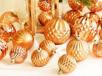 ingrosso decorazioni diamanti-6-10cm Pumpkin Diamond Shaped Christmas Balls Decorazione della festa nuziale multicolore Ciondolo decorazioni natalizie per albero