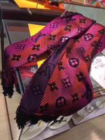 bandeaux de cachemire d'hiver pour femmes achat en gros de-hiver en laine soie longue écharpe Châle Bandeau pour les femmes et les hommes chaud Fleur imprimé chaud Echarpes Echarpes Laine Cadeaux Cachemire 180x30cm