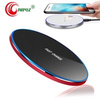 Wholesale best qi charging pad online – Best Qi Wireless Charger For iPhone X XR XS Max QC3 W Fast Wireless Charging for Samsung S9 S8 Note S7 USB Charger Pad