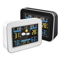 ingrosso orologi usati-stazione meteorologica WiFi prezzo all'ingrosso di fabbrica e previsioni per uso interno esterno con sveglia FW-100