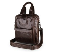 Wholesale portfolio briefcases for men resale online - Nesitu High Quality Grey Coffee Genuine Leather A4 Men Messenger Bags Briefcase Portfolio Male Bag for ipad M7266
