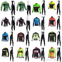 2018 new team Cycling jersey ALE long sleeve bike bib pants set 3D gel pad MTB  Bicycle autumn men s Pro cycling clothing 1008L 75955c1a0