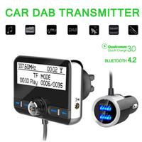 adaptateur d'antenne radio de voiture achat en gros de-Multifonction Voiture DAB Radio Récepteur Tuner Adaptateur USB Bluetooth Émetteur FM Antenne LCD Numérique Radio Appel Mains Libres