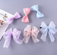 Wholesale 36 Women s beautiful wave dot mesh large bow hairpin chuck chuck flower jewelry hair accessories