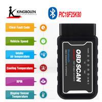 peugeot bluetooth großhandel-ELM327 Bluetooth V1.5 PIC18F25K80 Chip OBDII Diagnosewerkzeug Für Android ULM 327 V 1.5 Selbstscanner Drehmoment OBDII OBD2 Scanner