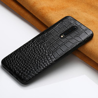 Wholesale crocodile brand genuine leather resale online - Genuine Leather Case For Oneplus Pro T Phone Cover for One Plus T T luxury marvel Full Case crocodile Garin Armor