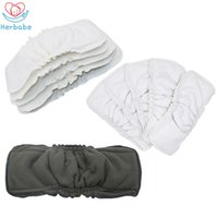 Wholesale inserts for diapers resale online - Herbabe Baby Diapers Insert Reusable for Newborn Bamboo Charcoal Nappy Changing Liners Washable Baby Cloth Diaper Nappies
