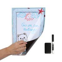 manyetik yazı tahtaları toptan satış-A4 Buzdolabı Mıknatısı Çıkarılabilir Silme Çizim Yazma Planlayıcısı Manyetik Kurulu Buzdolabı Mesaj Panosu Mıknatıslar Liste Yapmak Bloknot Notları Ev dekor