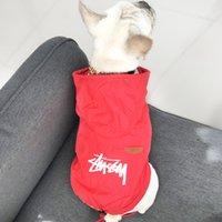 regenkleidung hunde großhandel-Hundekleidung Hundekapuzenpullis Haustierbekleidung für Hunde Mantel Jacken Baumwolle Sommer Haustier Teddy Regen Seidenkleidung Sonnenschutzkleidung mit Kapuze