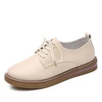 zapatillas oxford venda por atacado-Tenis feminino 2019 sapatilhas mulheres sapatos mulheres zapatos de mujer zapatillas chaussures femme nouveau buty moda oxford de couro
