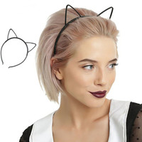 Wholesale sexy hair band girl resale online - Kids Black Cat Ears Head Bands Fashion Lady Girl Hairband Sexy Self Headband Baby Birthday Party Hair Accessories for Women Hoop