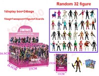 Wholesale kids display toys online - 100types Action Figures Cartoon Fortnite Plastic Doll toys kids cm inch game llama skeleton role Child Toy with display box bags
