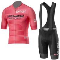 Wholesale padded cycling shorts online - 2019 Tour de Italia Cycling clothing MTB bike Shirt bib shorts with D GEL PAD Kits summer breathable men cycling jersey set Y042406