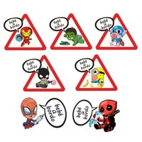 забавный автомобиль предупреждающие наклейки оптовых-Funny Spanish Baby on Board Car Sticker Creative cute Color  Waterproof Sticker for Car Window Tail Warning Sign Decal