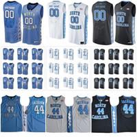 camisetas de baloncesto cosidas a medida al por mayor-Personalizado North Carolina Tar Heels College Basketball azul negro blanco Cosido Cualquier nombre Número # 13 Cameron Johnson 5 Nassir Little UNC Jerseys