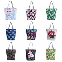 Wholesale cartoons ladies handbag shopping online - Unicorn Shoulder Tote Shopping Lady Bag Purse Handbag Shopper Cloth Printed Purses for different styles