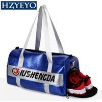 Wholesale ladies badminton shoes resale online - Gym Bag faux Leather Sports Bags Big Men Training Tas for Shoes Lady Fitness Yoga Travel Luggage Shoulder Sac De Sport T95