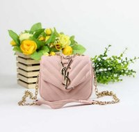 Wholesale little girl handbags purses resale online - Kids Purses Handbags Little Baby Girls Messenger Bag Gifts Toddler Purse Kid Brand Logo Mini Messenger Bag Children Shoulder Bags