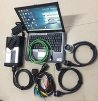 usado ecu venda por atacado-MB estrela C5 multi linguagem ferramenta de diagnóstico SD Connect MB estrela C5 + laptop d630 + 2019.05 soft-ware ssd pronto para usar para carros caminhão