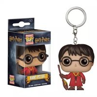 Wholesale figures toys harry potter online - Funko Pop Keychain New harry potter Figures Anime Collection Doll kids Toys Movie Anime Key chain Keyring Kid Toy design lol