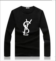 ingrosso magliette di mens lycra-Camicie a maniche lunghe da donna di design Francia Parigi stampa Marchio di moda da uomo di design di lusso magliette blcg mens 2019 luxury designer clothe