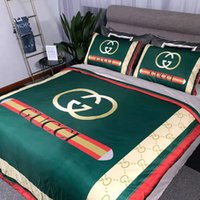 ingrosso set di comforter piumini-MENGZIQIAN Set di trapunte da letto di lusso per letto Designer Set di biancheria da letto king size di marca Set di quattro pezzi Set di lenzuola Copripiumino Federa