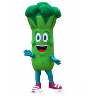 disfraz de mascota de verduras al por mayor-Halloween brócoli traje de la mascota de dibujos animados verduras Anime tema personaje carnaval fiesta disfraces disfraces adultos traje