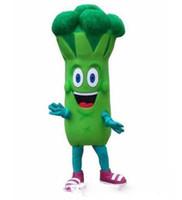 gemüse maskottchen kostüm großhandel-Halloween Brokkoli Maskottchen Kostüm Cartoon Gemüse Anime Thema Charakter Weihnachten Karneval Party Kostüm Kostüme Erwachsene Outfit