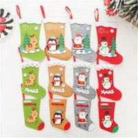 Wholesale cute christmas boots for sale - Group buy Christmas Stockings Cute Cartoon Santa Clause Snowman Boots Socks Xmas Tree Pendant Family Holiday Xmas Party Decorations JK1910