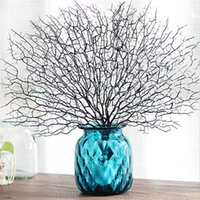 Wholesale artificial coral flowers for wedding resale online - 20pcs Peacock Coral Branch Artificial Plants For Wedding Party Supplies Home Decorative Fake Flowers Garden Artificial Plant Decor