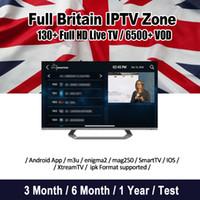 ingrosso migliori scatole iptv-Miglior abbonamento IPTV UK con 5000+ Live e 6000+ VOD 1/3/6/12 Mese per Smart TV Abonnement Iptv Mag Box M3U Android TV Box