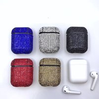 Wholesale black retail plastic bags for sale - Group buy NEW Diamond Airpod Case Bling Earphone Full Cover Shockproof Protector Bag for Apple Bluetooth Wireless Charging Headset with Retail Box