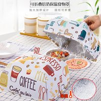Wholesale 1918 Fold Kitchen Heat Preservation Food Leaf Mustard Rice Dustproof Umbrella Meal Cover