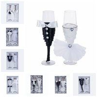 Wholesale wedding shot cups for sale - Crystal Champagne Glass Wedding Toasting Champagne Glasses Cups Wedding Party Bar Family Goblet Decoration Wine Glasses Mugs GGA1845