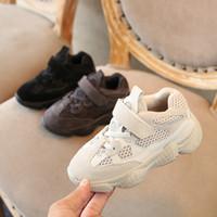 d302e440d120e2 Designer Enfants Chaussures Bébé Toddler Chaton Talon Kanye West Yez 500  Sneaker Infantile Running Sport Chaussures Pour Enfants Garçons Filles