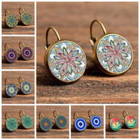 Wholesale time gem earrings for sale - Group buy Europe and the United States new retro time gem mandala pattern earrings earrings AliExpress ebay hot sale